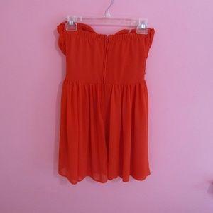 Lulu's Dresses - Lulu's Red Wrap Strapless Skater Dress - Like New!
